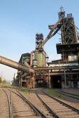Blast furnace and railway — Stock Photo