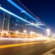 Light trails on the street in beijing — Stock Photo #7270333
