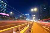 Megacity sokak, hafif rotalar — Stok fotoğraf