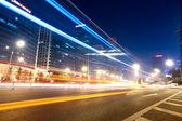 światło trasy na ulicy w pekinie — Zdjęcie stockowe