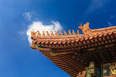 The eaves in the forbidden city — Stock Photo