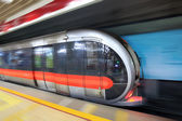 Modern subway train — Stock Photo