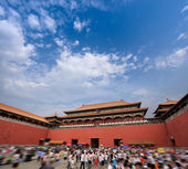 Palace museum meridian gate — Stock Photo