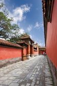 The forbidden city's walls and courtyard — Stock Photo