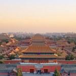 Beijing forbidden city at dusk — Stock Photo