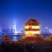 Pavilion of prince teng at night — Stock Photo