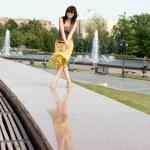 City girl walking outdoor — Stock Photo #6839626