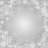 Sneeuwvlok achtergrond. — Stockvector