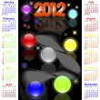 Stock Vector: American calendar for 2012.