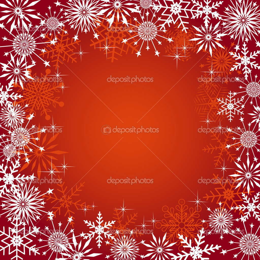 Christmas background with snowflakes. Vector illustration. — Stock Vector #7089093