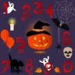 Halloween numbers. — Stock Vector