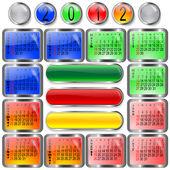 Kalendář pro rok 2012. — Stock vektor
