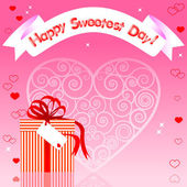 Sweetest day card. — Stock Vector