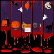 Five Halloween banners. — Stock Vector