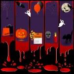Five Halloween banners. — Stock Vector