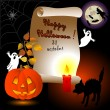 Halloween card. — Stock vektor