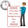 Vector de stock : Daylight saving time.