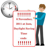 Daylight saving time. — Stockvector