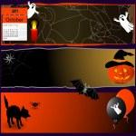 Halloween banners. — Stock Vector