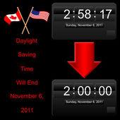 Icono de un reloj electrónico. — Vector de stock