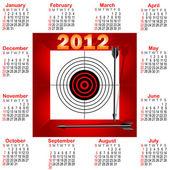 Calendar for 2012. — 图库矢量图片