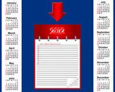 Calendrier pour 2012. — Vecteur