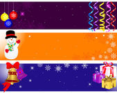Christmas and new year banners. — Vecteur
