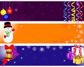 Jul och nyår banners. — Stockvektor