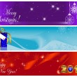 Stock Vector: Christmas and new year banners.