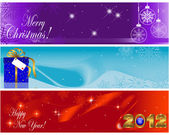 Christmas and new year banners. — Stock Vector