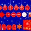 Christmas Sale icons. — Stock Vector