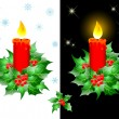 Christmas candles. - Stock Vector