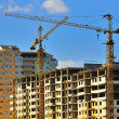 Tower cranes on building — Stock Photo