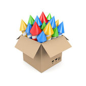 Box with rockets. Image contain clipping path — Stock Photo