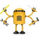 lavoratore di robot — Foto Stock