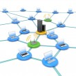 Wireless network — Stock Photo