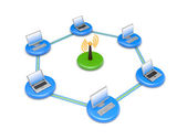 Wireless network. Image contain clipping path — Stock Photo