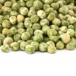 Dry green pea on white background — Stock Photo