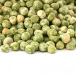 Dry green pea on white background — Stock Photo #7219760