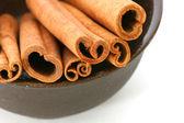 Cinnamon sticks in bowl — Stock Photo