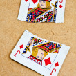 Royalty-Free Stock Photo: Broken into two playing card deck of old