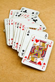 Old deck of cards — Stock Photo