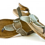 Stylish ladies' slippers — Stock Photo