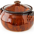 Clay pot for cooking — Stock Photo