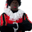 Zwarte piet ( black pete) typical Dutch character — Stock Photo #6937031