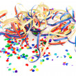 Stock Photo: Colorful confetti and party streamers