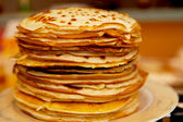 Pile of Dutch pancakes in closeup — Stock Photo