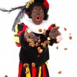 Zwarte piet ( black pete) typical Dutch character — Stock Photo #7459847