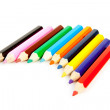 Colorful pencils in a row — Stock Photo