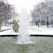 Fountain in winter setting — Stock Photo